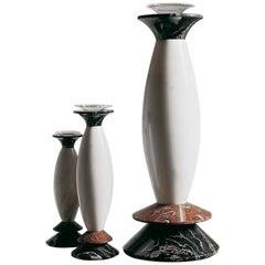 21st Century Matteo Thun Matteo Medium Vase in Polichrome Marbles Blown Glass