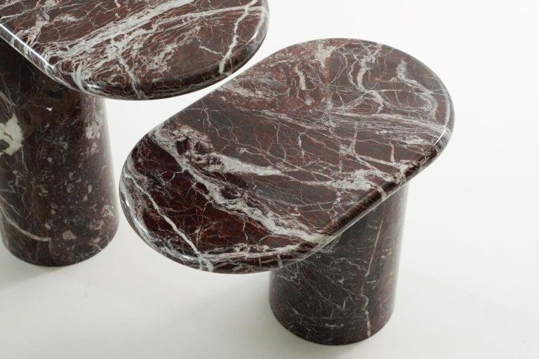 Modern 21st Century Matteo Zorzenoni Side Coffee Table Marble Red For Sale