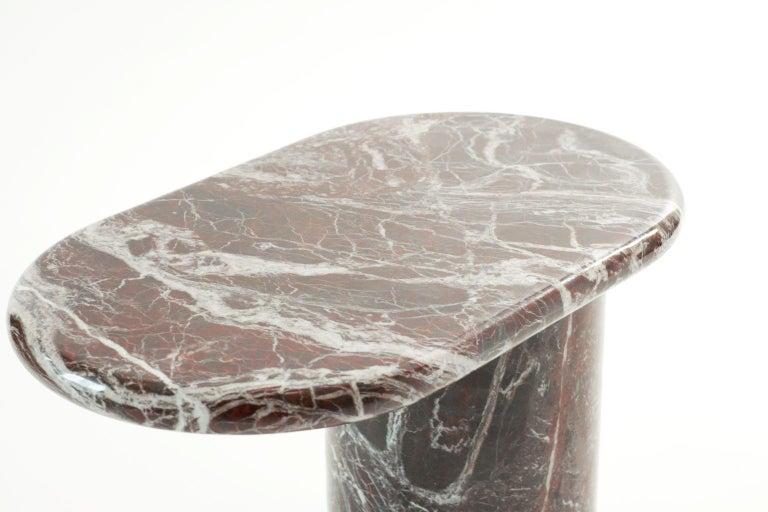 Italian 21st Century Matteo Zorzenoni Side Coffee Table Marble Red For Sale