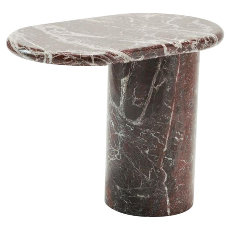 21st Century Matteo Zorzenoni Side Coffee Table Marble Red For Sale
