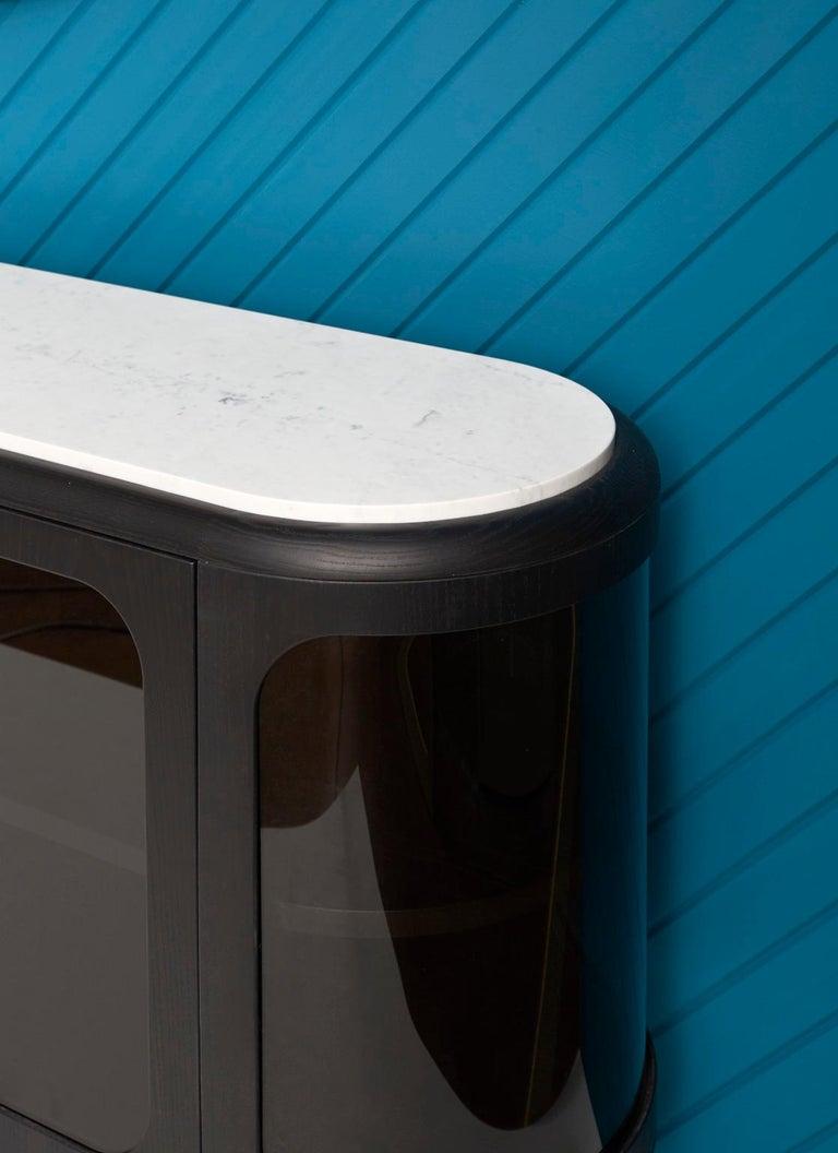 Modern 21st Century Matteo Zorzenoni Sideborads Credenzas Cabinet Storage Wood Marble For Sale