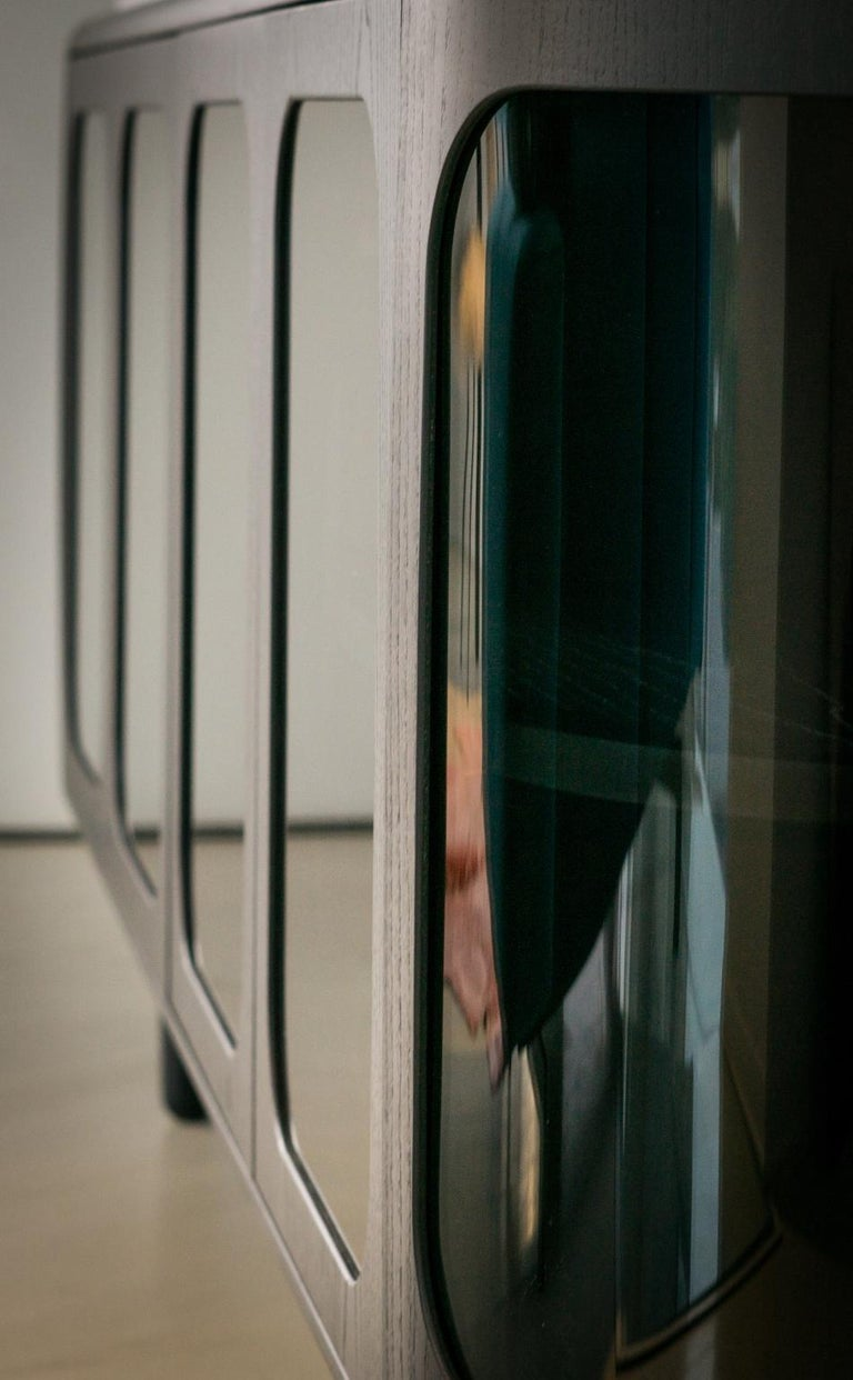 Stained 21st Century Matteo Zorzenoni Sideborads Credenzas Cabinet Storage Wood Marble For Sale