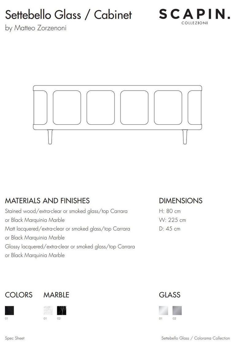 21st Century Matteo Zorzenoni Sideborads Credenzas Cabinet Storage Wood Marble In New Condition For Sale In Tezze sul Brenta, IT
