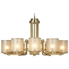 21st Century Maxi Idyll Chandelier by Officina Luce Gold Trimmings