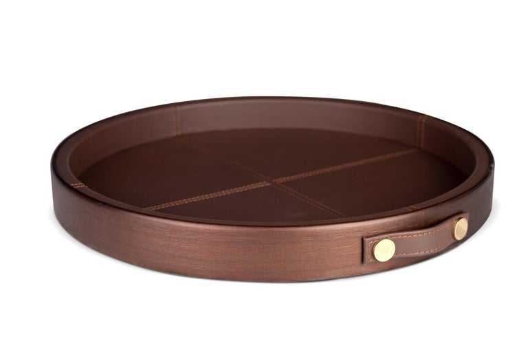 Portuguese 21st Century Maxwell Tray Walnut Wood For Sale