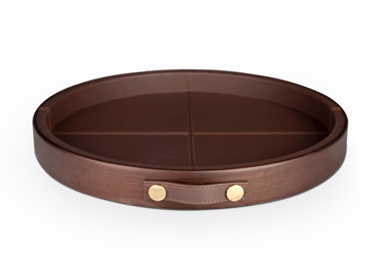Varnished 21st Century Maxwell Tray Walnut Wood For Sale