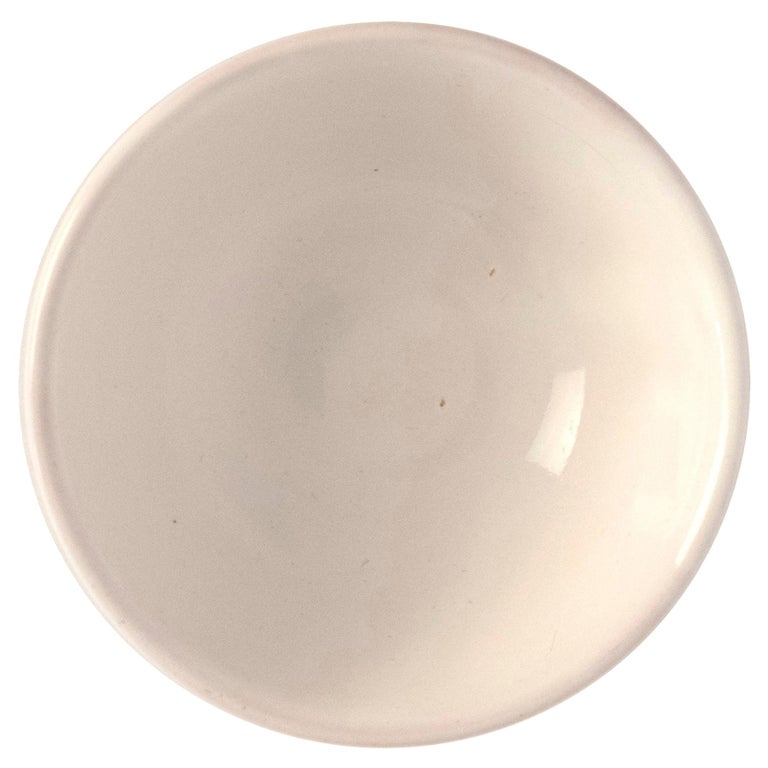 21st Century Medium Ceramic Bowl in White Handmade For Sale