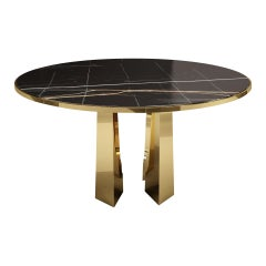 21st Century Mills Dining Table St Laurent Marble