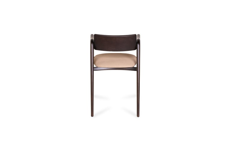 21st Century Modern Anjos Chair with Armrests Leather Handcrafted by Greenapple In New Condition For Sale In Cartaxo, PT