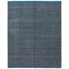 Apadana Blue Modern Bamboo/Silk Boho Handmade Rug