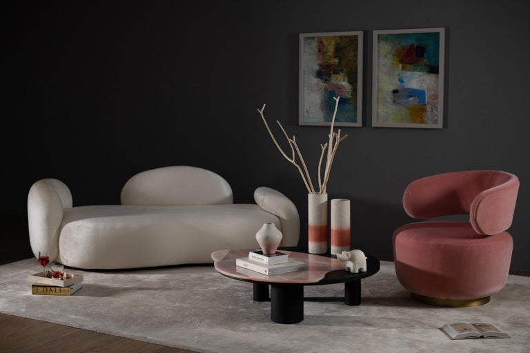 21st Century Modern Bordeira Coffee Table Handcrafted in Portugal by Greenapple For Sale 2
