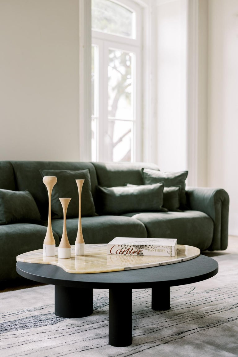 Hand-Crafted 21st Century Modern Bordeira Coffee Table Handcrafted Portugal by Greenapple For Sale