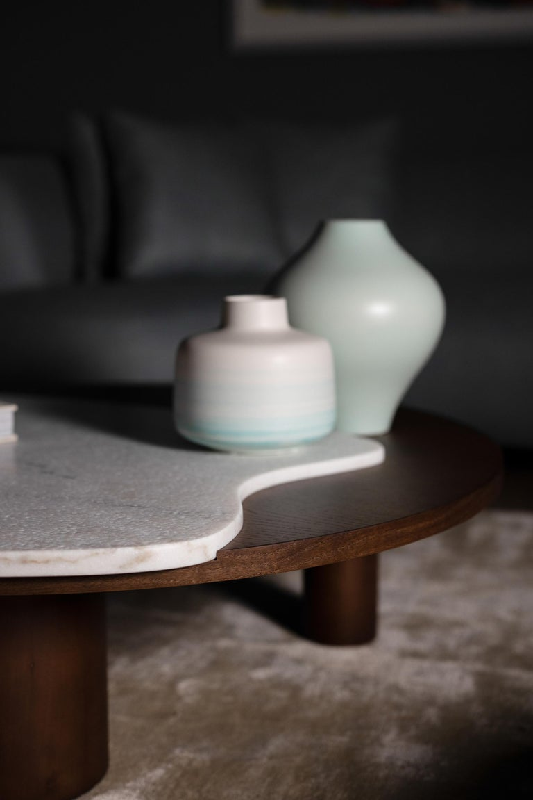 Contemporary 21st Century Modern Bordeira Coffee Table Handcrafted Portugal by Greenapple For Sale
