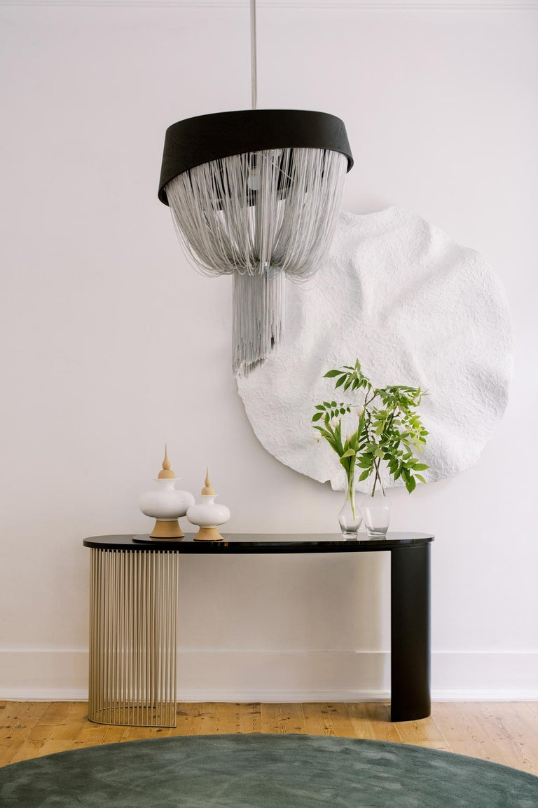 Hand-Crafted 21st Century Art Deco Castelo Console Handcrafted Portugal by Greenapple For Sale