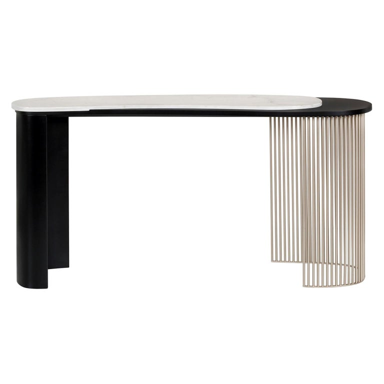 21st Century Art Deco Castelo Console Handcrafted Portugal by Greenapple For Sale