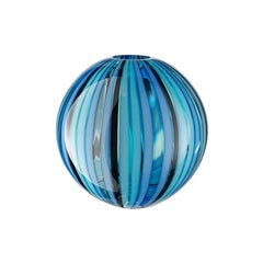 "21st Century Modern Colored Vase in Murano's Hand Blown Glass ""Perles"", Salviati"