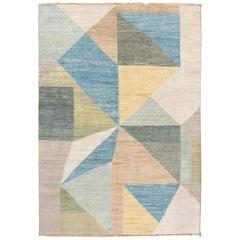 21st Century Modern Deco Wool Rug