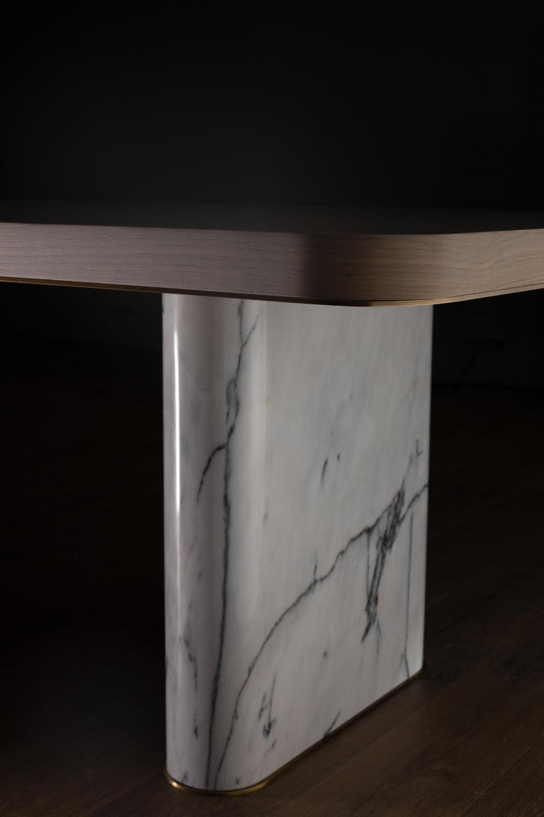 Contemporary 21st Century Modern Fall Dining Table Handcrafted in Portugal by Greenapple For Sale
