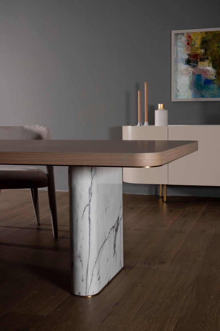 Portuguese 21st Century Modern Fall Dining Table Handcrafted in Portugal by Greenapple For Sale