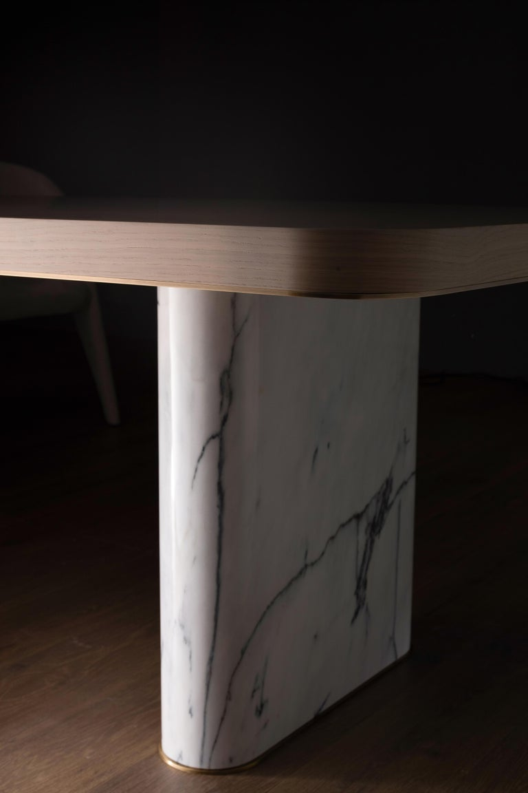21st Century Modern Fall Dining Table Handcrafted in Portugal by Greenapple In New Condition For Sale In Cartaxo, PT