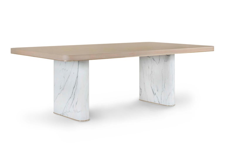 21st Century Modern Fall Dining Table Handcrafted in Portugal by Greenapple For Sale