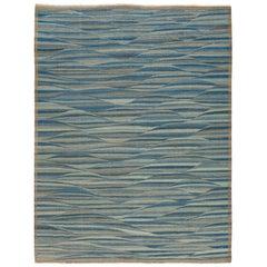 21st Century Modern Flat-Weave Kilim Style Wool Rug