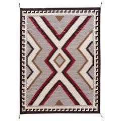 21st Century Modern Flat-Weave Navajo Style Wool Rug