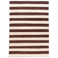 21st Century Modern Flat-Weave Kilim Wool Rug