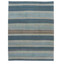 21st Century Modern Flatweave Wool Rug