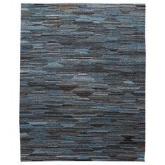 21st Century Modern Flat-Weave Wool Rug