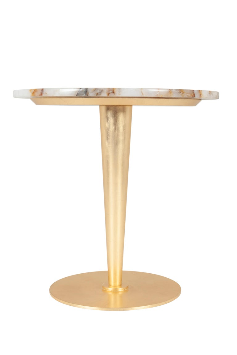 Wood 21st Century Art Deco Glasgow Side Table Handcrafted in Portugal by Greenapple For Sale