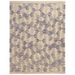 21st Century Modern Handspun Handwoven Anatolian Wool Kilim Carpet