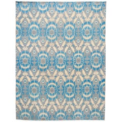 21st Century Modern Ikat Wool Rug