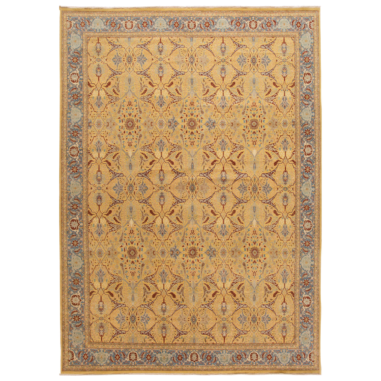 21st Century Modern Indian Tabriz Wool Rug