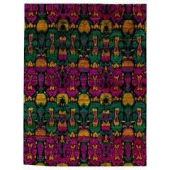 21st Century Modern Indian Wool and Silk Rug
