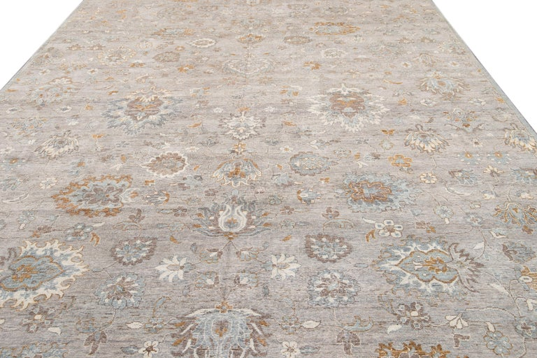 21st Century Modern Indian Wool Rug For Sale 4