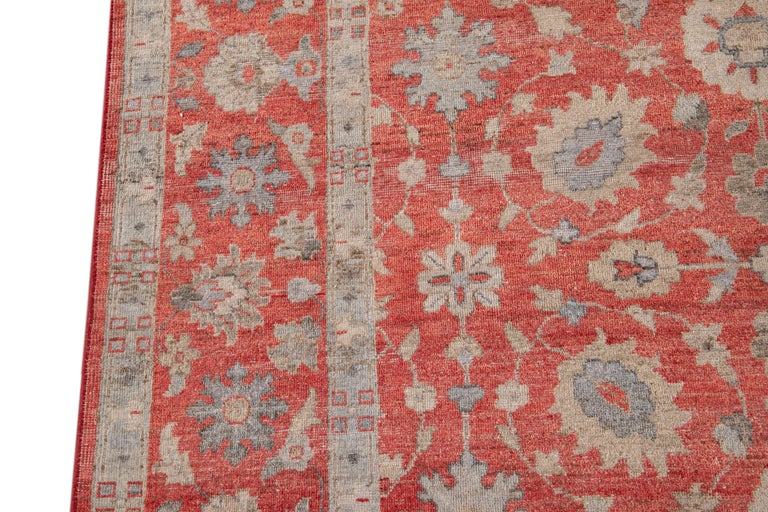 21st Century Modern Indian Wool Rug For Sale 8