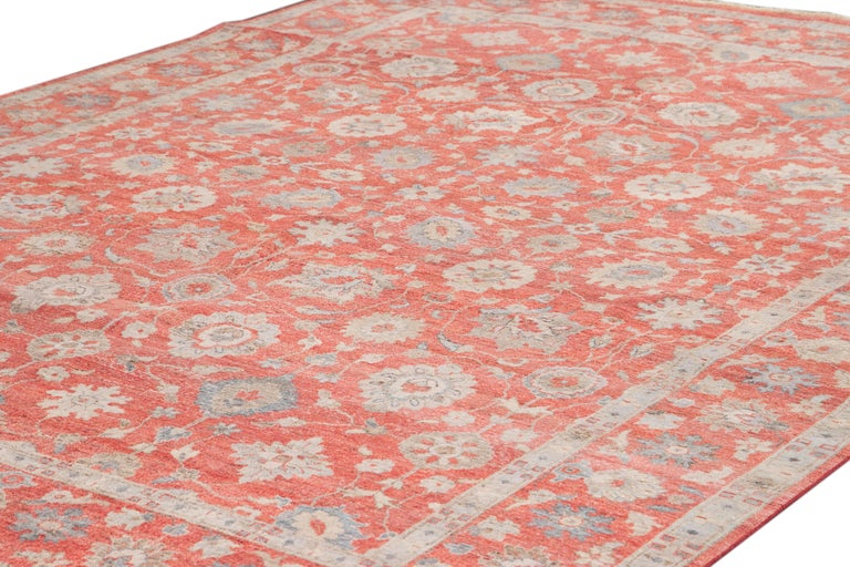 Persian 21st Century Modern Indian Wool Rug For Sale