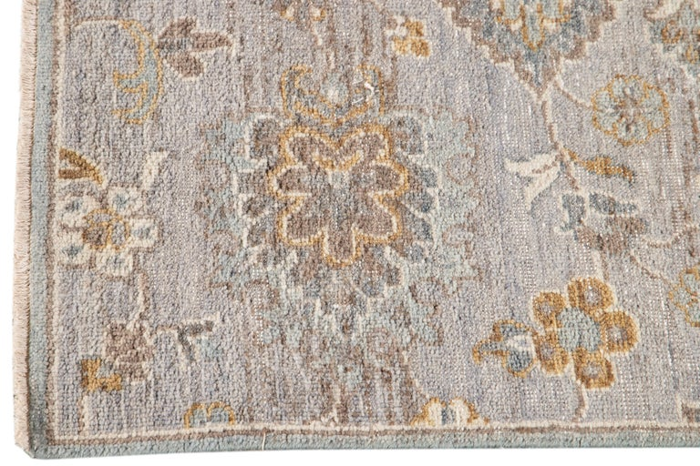 Hand-Knotted 21st Century Modern Indian Wool Rug For Sale