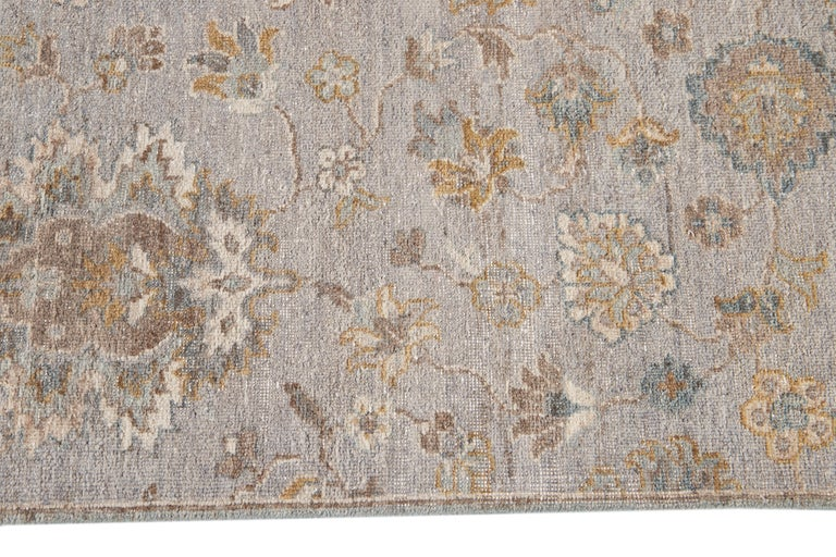 21st Century Modern Indian Wool Rug In New Condition For Sale In Norwalk, CT