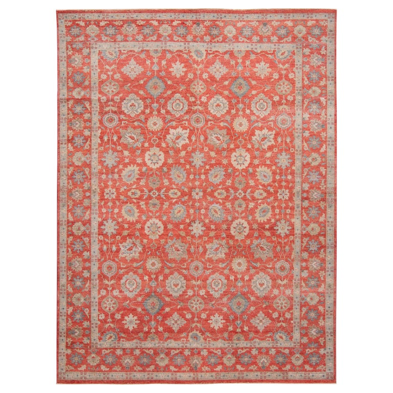 21st Century Modern Indian Wool Rug For Sale