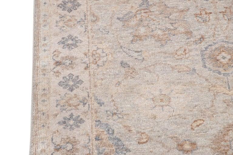 21st Century Modern Indian Wool Runner Rug For Sale 3