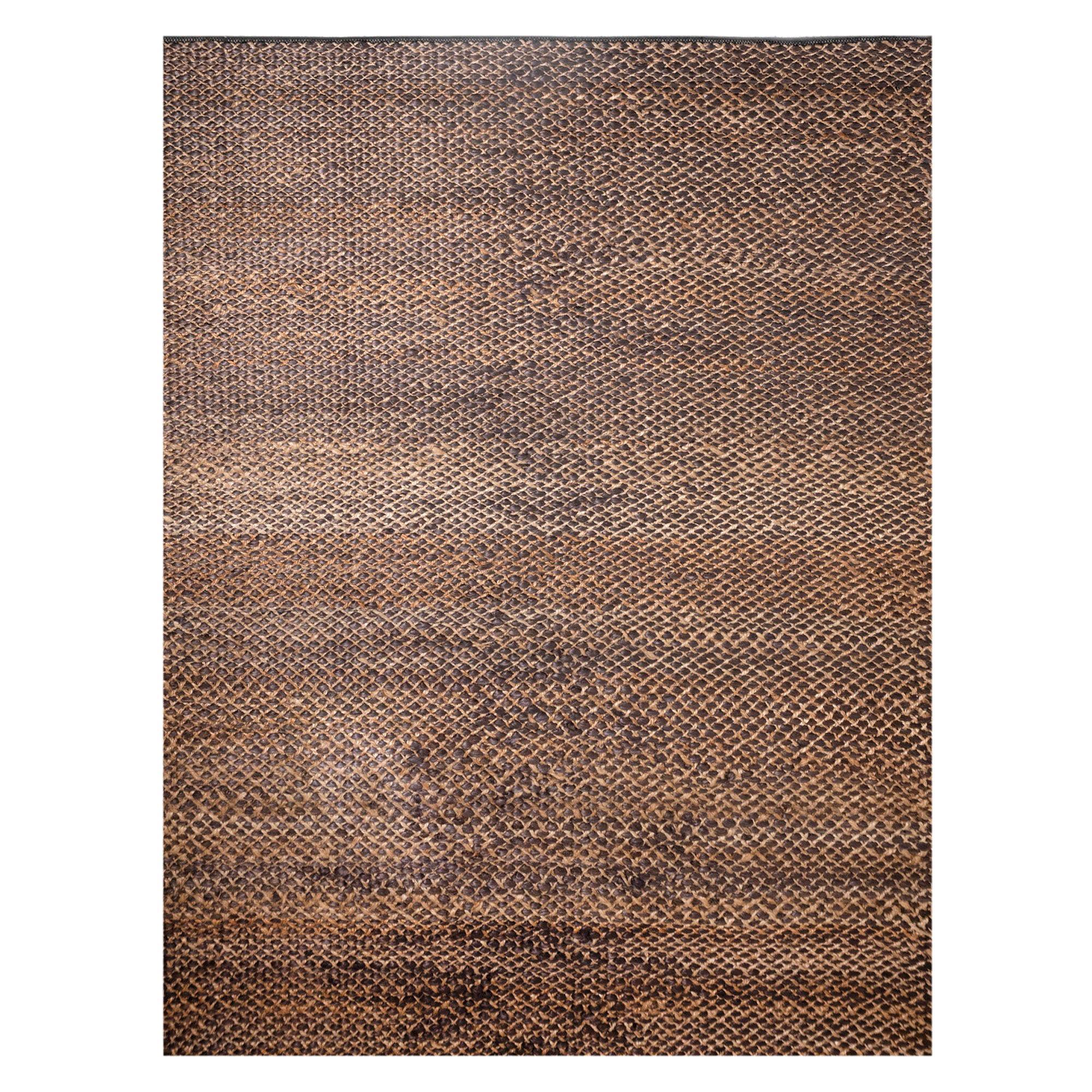 21st Century Modern Jute Braided Carpet Rug by Kilombo Home Natural&Black