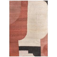 21st Century Modern Jute Carpet Rug by Kilombo Home in Terracotta Colors