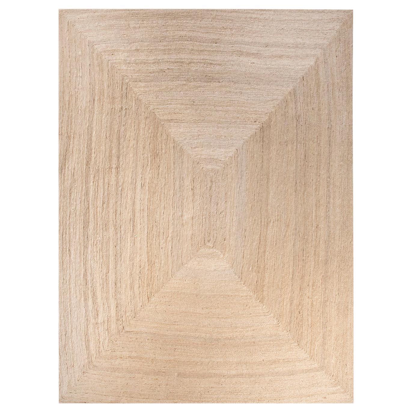 21st Century Modern Jute Carpet Rug by Kilombo Home Ivory