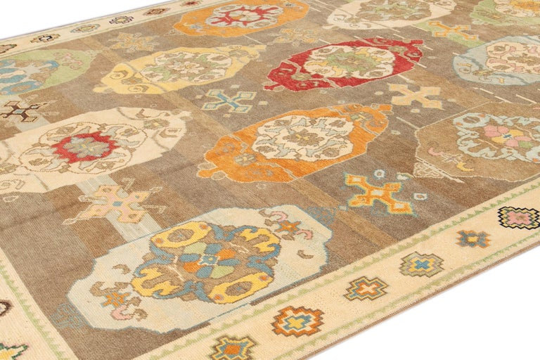 Hand-Knotted 21st Century Modern Kars Wool Rug For Sale