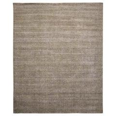 21st Century Modern Loop and Cut Groove Wool Rug