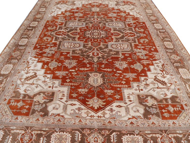 21st Century Modern Luxury Indian Rug with Herz Design Centemporary Colors In New Condition For Sale In Lohr, Bavaria, DE