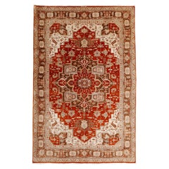 21st Century Modern Luxury Indian Rug with Herz Design Centemporary Colors
