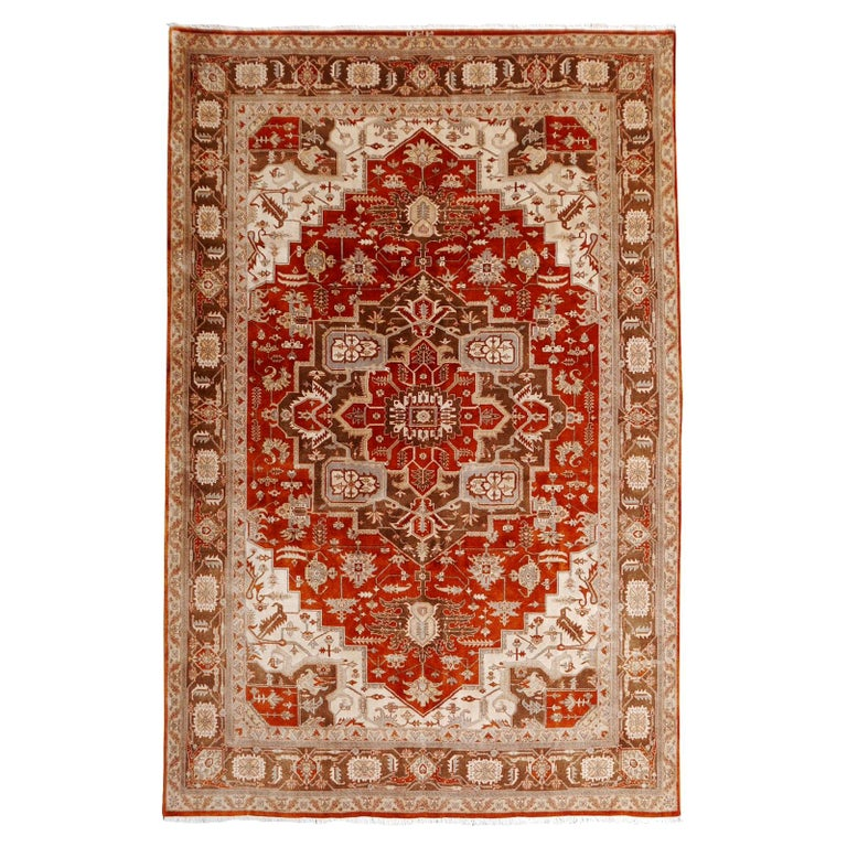21st Century Modern Luxury Indian Rug with Herz Design Centemporary Colors For Sale